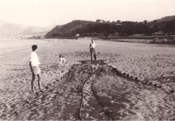 Notre  plage en  1960