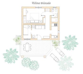 Villino trilocale 5/6 pax